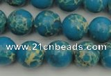 CDE2234 15.5 inches 10mm round dyed sea sediment jasper beads
