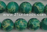 CDE2246 15.5 inches 12mm round dyed sea sediment jasper beads