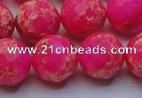CDE2509 15.5 inches 18mm faceted round dyed sea sediment jasper beads