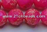 CDE2510 15.5 inches 20mm faceted round dyed sea sediment jasper beads