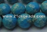 CDE2550 15.5 inches 16mm faceted round dyed sea sediment jasper beads