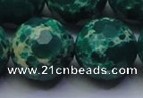 CDE2576 15.5 inches 24mm faceted round dyed sea sediment jasper beads