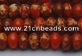 CDE2604 15.5 inches 12*16mm rondelle dyed sea sediment jasper beads
