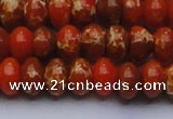 CDE2605 15.5 inches 13*18mm rondelle dyed sea sediment jasper beads