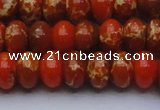 CDE2606 15.5 inches 15*20mm rondelle dyed sea sediment jasper beads