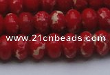 CDE2621 15.5 inches 13*18mm rondelle dyed sea sediment jasper beads