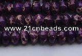 CDE2633 15.5 inches 7*10mm rondelle dyed sea sediment jasper beads