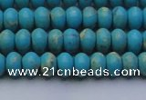 CDE2640 15.5 inches 5*8mm rondelle dyed sea sediment jasper beads