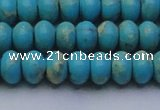 CDE2643 15.5 inches 10*14mm rondelle dyed sea sediment jasper beads