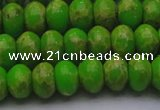 CDE2660 15.5 inches 12*16mm rondelle dyed sea sediment jasper beads