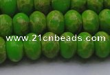 CDE2661 15.5 inches 13*18mm rondelle dyed sea sediment jasper beads