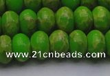 CDE2662 15.5 inches 15*20mm rondelle dyed sea sediment jasper beads