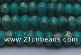 CDE2666 15.5 inches 8*12mm rondelle dyed sea sediment jasper beads
