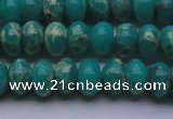 CDE2668 15.5 inches 12*16mm rondelle dyed sea sediment jasper beads
