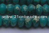 CDE2670 15.5 inches 15*20mm rondelle dyed sea sediment jasper beads