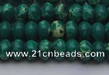 CDE2675 15.5 inches 10*14mm rondelle dyed sea sediment jasper beads