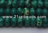CDE2676 15.5 inches 12*16mm rondelle dyed sea sediment jasper beads