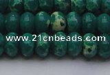 CDE2677 15.5 inches 13*18mm rondelle dyed sea sediment jasper beads