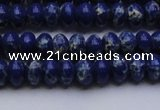 CDE2680 15.5 inches 5*8mm rondelle dyed sea sediment jasper beads