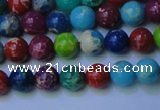 CDE2689 15.5 inches 6mm round mixed color sea sediment jasper beads