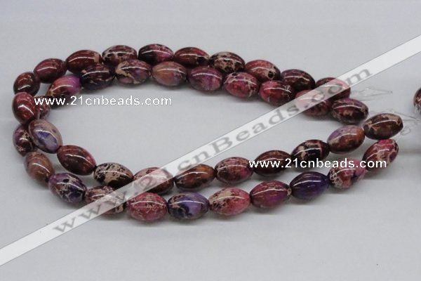 CDE32 15.5 inches 13*18mm rice dyed sea sediment jasper beads