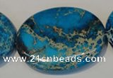 CDE320 15.5 inches 35*45mm oval dyed sea sediment jasper beads