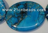 CDE321 15.5 inches 40*50mm oval dyed sea sediment jasper beads