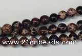 CDE361 15.5 inches 6mm round dyed sea sediment jasper beads