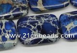 CDE57 15.5 inches 22*30mm rectangle dyed sea sediment jasper beads