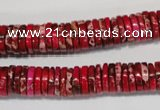 CDE602 15.5 inches 2*10mm heishi dyed sea sediment jasper beads
