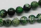 CDE69 15.5 inches 10mm round dyed sea sediment jasper beads