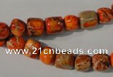 CDE732 15.5 inches 6*7mm – 8*9mm nuggets dyed sea sediment jasper beads