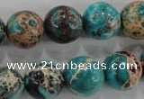 CDE806 15.5 inches 14mm round dyed sea sediment jasper beads wholesale