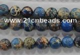 CDE813 15.5 inches 8mm round dyed sea sediment jasper beads wholesale