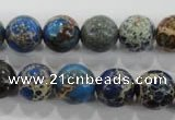 CDE814 15.5 inches 10mm round dyed sea sediment jasper beads wholesale