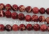 CDE821 15.5 inches 6mm round dyed sea sediment jasper beads wholesale