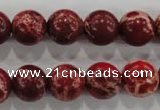 CDE824 15.5 inches 12mm round dyed sea sediment jasper beads wholesale