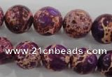 CDE835 15.5 inches 14mm round dyed sea sediment jasper beads wholesale