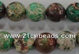CDE855 15.5 inches 14mm round dyed sea sediment jasper beads wholesale