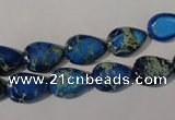 CDE915 15.5 inches 9*13mm oval dyed sea sediment jasper beads
