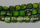 CDE944 15.5 inches 8*8mm square dyed sea sediment jasper beads