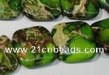 CDE947 15.5 inches 20*20mm square dyed sea sediment jasper beads