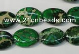 CDE972 15.5 inches 13*18mm oval dyed sea sediment jasper beads