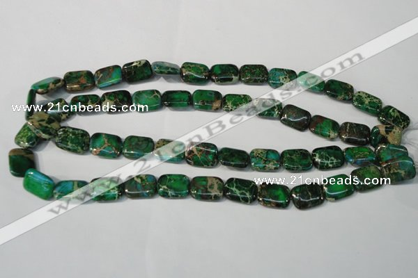 CDE974 15.5 inches 12*16mm rectangle dyed sea sediment jasper beads
