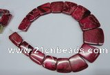 CDE992 Top drilled 18*25mm - 27*35mm trapezoid sea sediment jasper beads