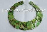 CDE995 Top drilled 18*25mm - 27*35mm trapezoid sea sediment jasper beads