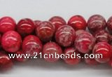 CDI04 16 inches 10mm round dyed imperial jasper beads wholesale