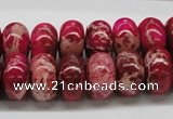 CDI08 16 inches 10*16mm rondelle dyed imperial jasper beads wholesale
