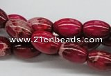 CDI09 16 inches 10*14mm rice dyed imperial jasper beads wholesale