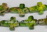CDI131 15.5 inches 15*20mm cross dyed imperial jasper beads
